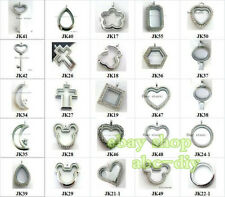 Mix Style Cute Living Memory Pendant Glass Locket DIY Floating Charms Necklace