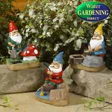 Smart Solar - Set of 3 Solar Gnome Spotlights