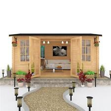 Spacious Modern Style Dorset Log Cabin Summer House Garden Living 4.5m x 3.5m