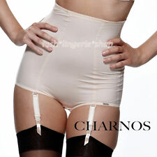 Charnos Hourglass Waist Nipper Control Wear With Suspenders Blush Sizes 10 12