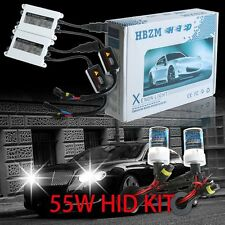 Pair 55W AC HID Xenon Light Conversion Kit Waterproof Slim Ballast H1 H7 H11