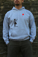 Girl With Heart Shaped Balloon Banksy Street Art Cool Jumper Hoodie S-XL Sizes