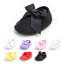 0-18M Kids Baby Newborn Girl Shoes slipper Soft Sole Bowknot Anti-Slip Prewalker