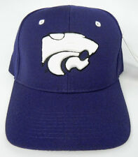 KANSAS ST. STATE WILDCATS PURPLE NCAA VINTAGE FITTED ZEPHYR DH CAP HAT NWT!
