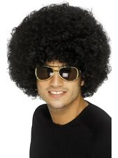 Black 70'S Funky Afro Mens Womens Unisex Disco Fancy Dress Costume WIG 42017