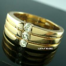 Jewelry Size Q-U  For Mens Luxury Gold Filled Wedding engagement Ring R264