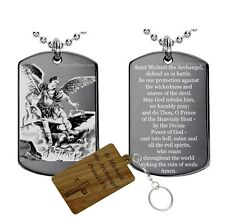 Prayer to St.Michael the Archangel- Dog Tag Necklace Medal Pendant