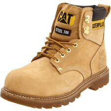 Caterpillar Mens Boots Second Shift Steel Toe Work Boots Honey Nubuck Medium