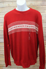 Tommy Hilfiger Men's Red Nordic Snowflake Sweater Large 2XLarge NWT
