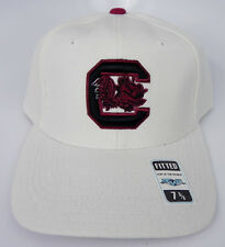 SOUTH CAROLINA GAMECOCKS WHITE NCAA VINTAGE FITTED SIZED TOW CAP HAT NWT!