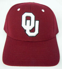 OKLAHOMA SOONERS CRIMSON NCAA VINTAGE FITTED SIZED ZEPHYR DH CAP HAT NWT!