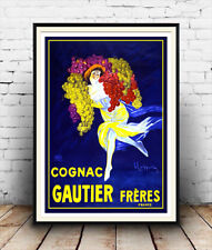 Cognac Gautier , Reproduction vintage French advertising poster, Wall art.