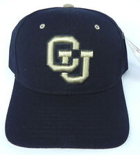 COLORADO BUFFALOES BLACK NCAA VINTAGE FITTED ZEPHYR DH CAP HAT NWT!