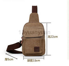 Canvas Military Hiking Messenger Travel Chest Pack Backpack Shoulder Sling Bag