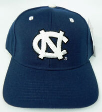 NORTH CAROLINA TAR HEELS NAVY NCAA VINTAGE FITTED SIZED ZEPHYR DH CAP HAT NWT!