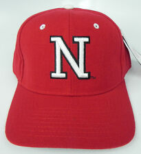 NEBRASKA CORNHUSKERS RED NCAA VINTAGE FITTED SIZED ZEPHYR DH CAP HAT NWT!