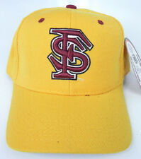 FLORIDA STATE ST. SEMINOLES YELLOW NCAA VINTAGE FITTED ZEPHYR DH CAP HAT NWT!