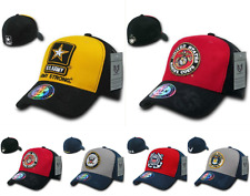 Military Air Force Marines Navy Army Coast Guard Flex Fit Baseball Hats Hat Caps