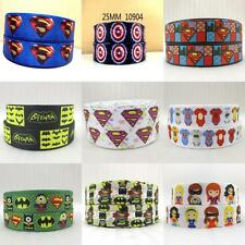 5yards Superman minions grosgrain ribbon american caption batman batgirl pattern