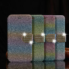 Luxury Leather Magnetic Flip Stand Bling Wallet Cover Case For Samsung Galaxy