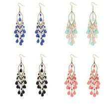 1 Pair New Charm women Elegant Beads tassel hook Earings chain Ear Studs jewelry