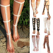 Sexy Barefoot Sandals Crochet Cotton Foot Jewelry Anklet Bracelet Ankle Chain