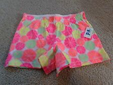aeropostale kids' activate citrus print knit shorty shorts  NWT neon colors