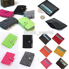 Wallet Slim Money Clip Credit Card Holder ID Business Mens Womens Leather Purse