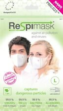 NEW Face Mask 5 pack protects from Viruses Smog Dust Mould Allergens Flu Cold
