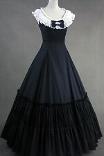 Black White Sleeveless Cotton Classic Elegant Lolita Dress 405 Costume Cosplay