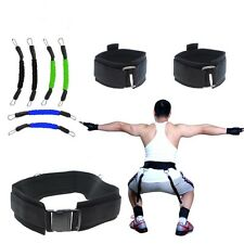 LATEX RESISTANCE BANDS TUBES SET STRENGTH TRAINING WORKOUT GYM FITNESS AGILITY