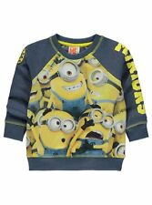 Boys Despicable Me Minions Sweatshirt Top Age's 6-7  7-8  8-9  9-10 Years NEW