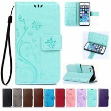 Flip Leather Wallet Cards Holder Stand Case Cover For Apple iPhone 6 6S Plus SE