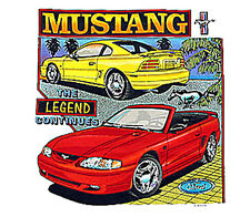 Ford Mustang The Legend Continues T Tee Shirt T-Shirt Logo Car