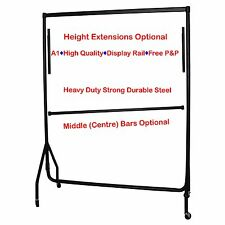 ❤ 4ft HEAVY DUTY Garment Rail Home Retail Clothes Hanging Display Portable Rack