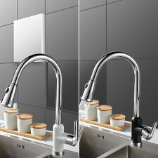 Kitchen Swivel Spout Single Handle Sink Faucet Mixer Tap Pull Down Spray Modern