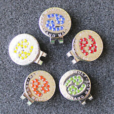 Crystal Zodiac Cancer Golf Ball Marker w Magnetic Golf Hat Clip Free Shipping