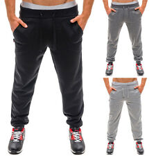 Casual Mens Comfy Cotton Sports GYN Jogging Long Pants Elastic Running Trousers
