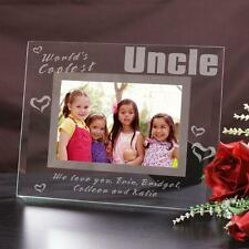 Personalized Uncle Glass Picture Frame Worlds Coolest Uncle Engraved Photo Frame