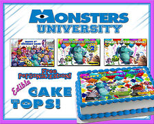 Monsters Inc University edible Cake toppers picture sugar Birthday paper image