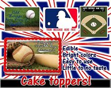 Baseball Edible cake toppers decoration tops sugar sheet birthday picture paper