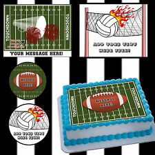 Edible Football volleyball Cake toppers picture sugar sheet image ideas easy