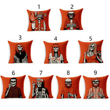 Red Skull Cushion Covers Love Wins Cotton Linen Throw Pillow Case