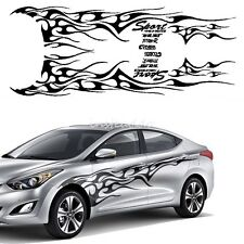 1Set BlackCar Truck Decal Vinyl Flame Totem Graphics Side Decal Body Sticker