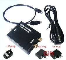 Digital Optical Coaxial Toslink Signal to Analog Audio Converter Adapter RCA  BE