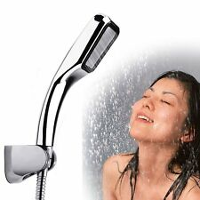 Bathroom Hand Held Shower Head Solid High Pressure Water ABS+Chrome + base hose