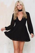 Nasty Gal Glamorous Wonderwall Pussy Bow Dress Size Small SOLD OUT