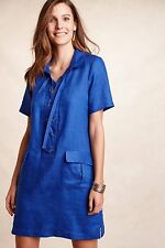 NWT Anthropologie Lace-Up Linen Dress by Maeve sz 4 or 6 Lovely & Adorable, RARE