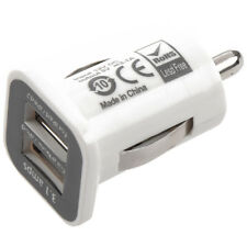 5X(White3.1A Dual USB Car Charger Adapter For iPad iPad2 iPhone iPod)B3