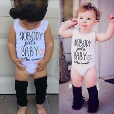 Newborn Baby Boy Girl Infant Clothes Romper Jumpsuit Bodysuit Outfits 0-12 Month